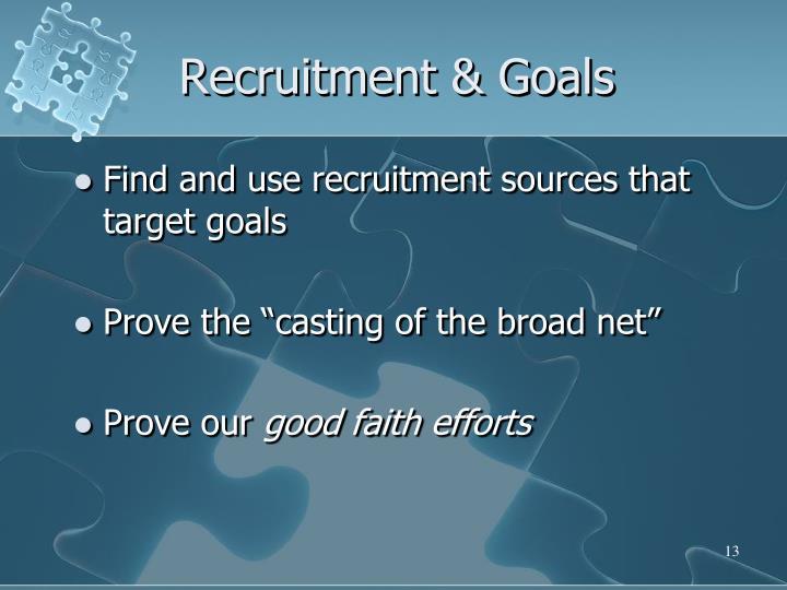 Recruitment & Goals
