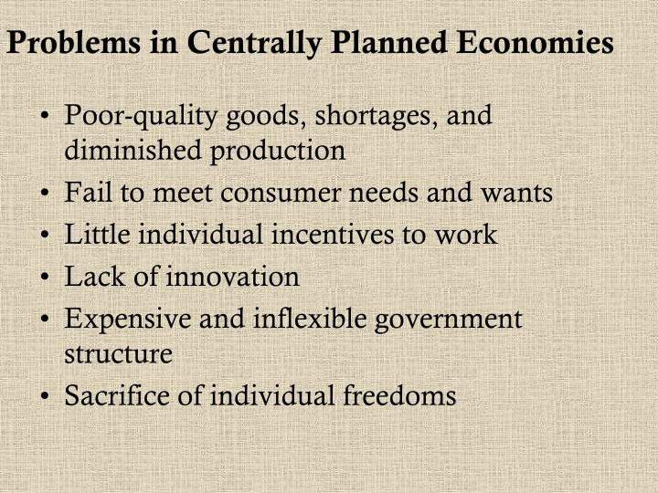 Problems in Centrally Planned Economies