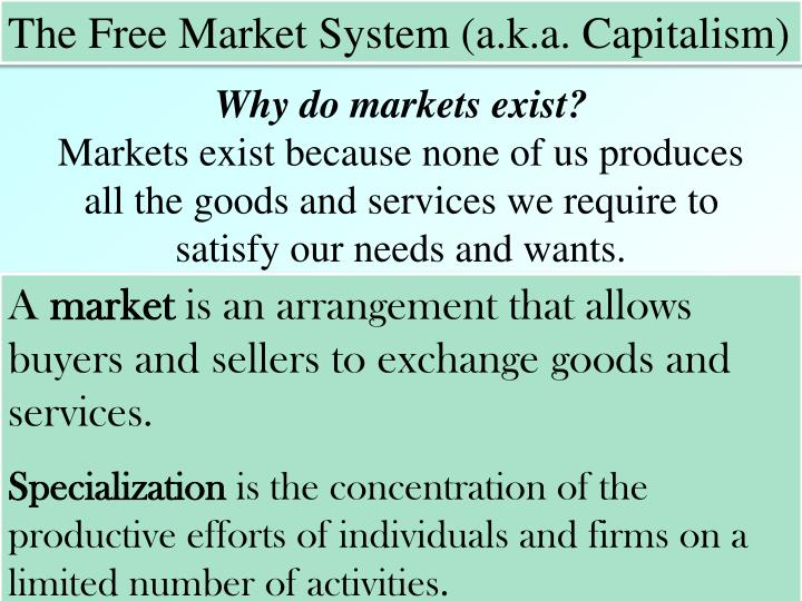 The Free Market System (a.k.a. Capitalism)