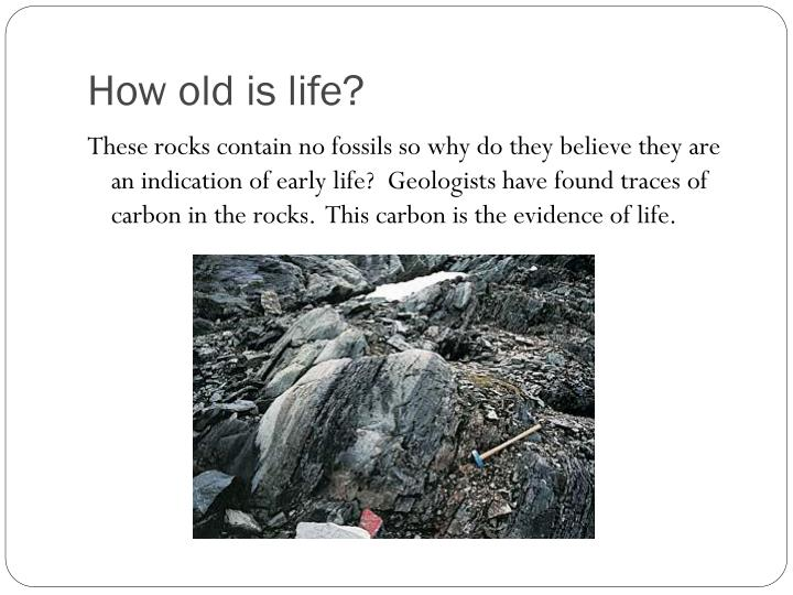 How old is life?