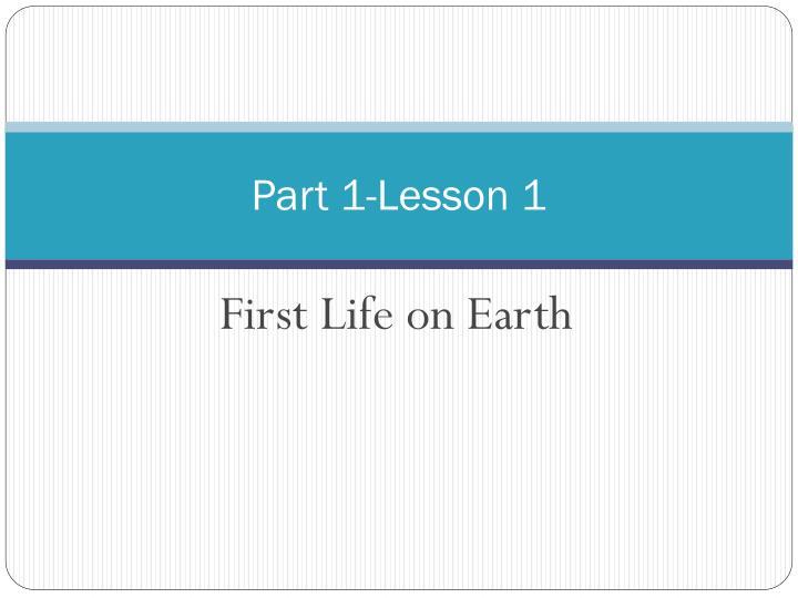 Part 1-Lesson 1