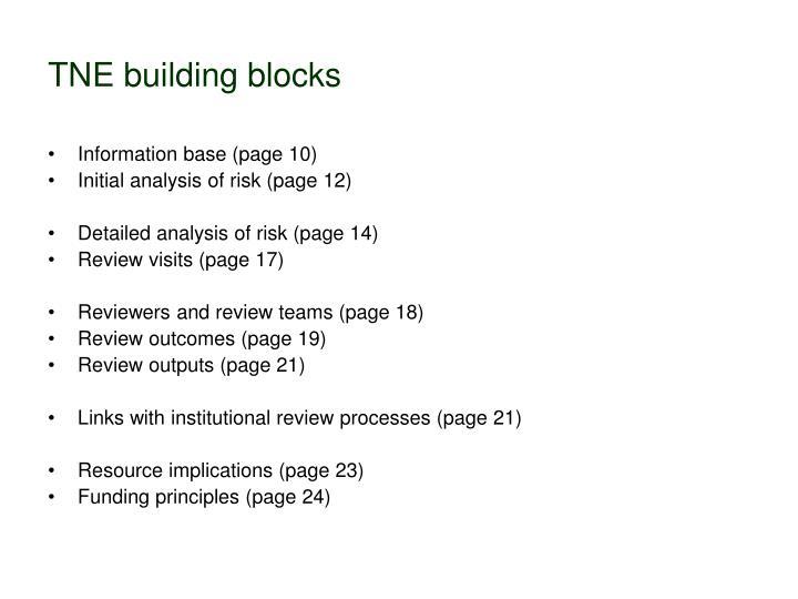 TNE building blocks
