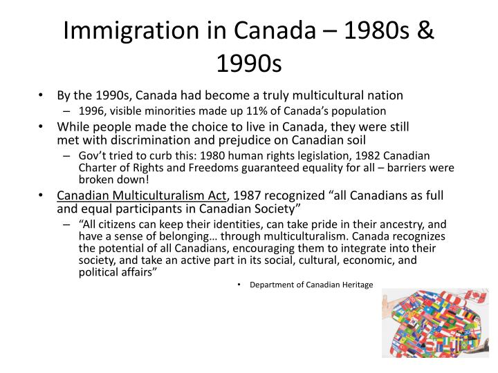 Immigration in Canada – 1980s & 1990s