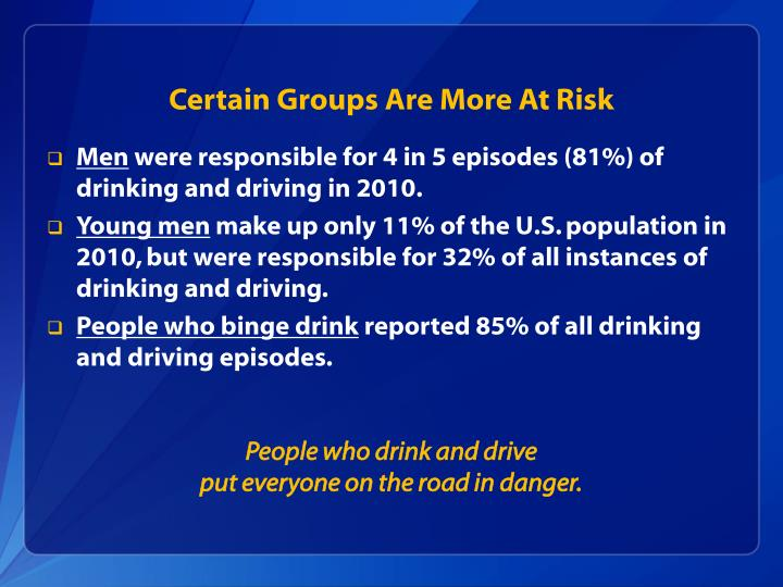 Certain Groups Are More At Risk