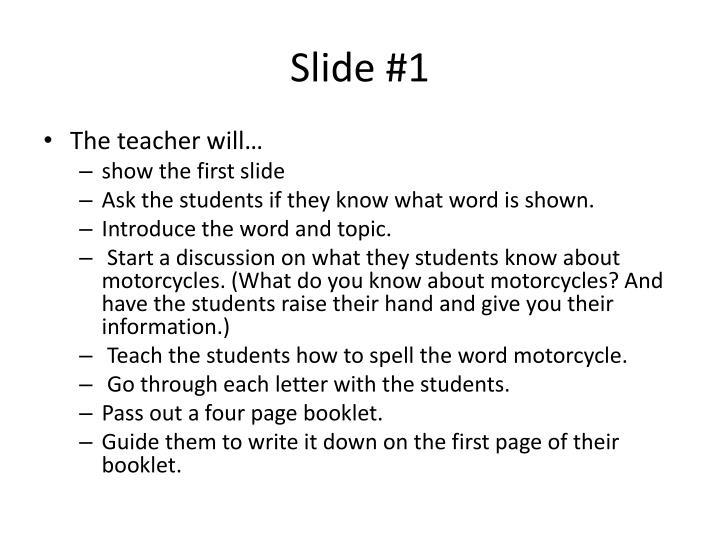 Slide #1