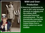 wwi and over production2