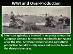 wwi and over production4