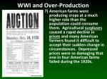 wwi and over production6