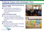 federal input into strategic plan