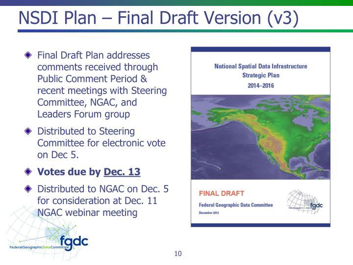 NSDI Plan – Final Draft Version (v3)
