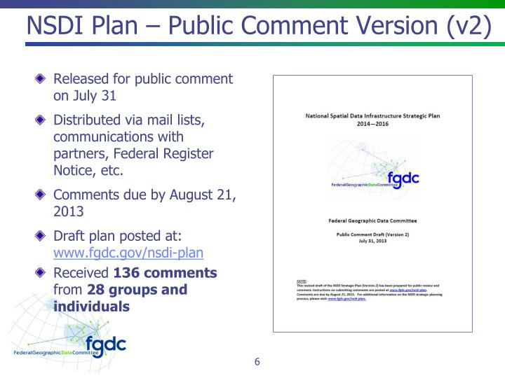 NSDI Plan – Public Comment Version (v2)