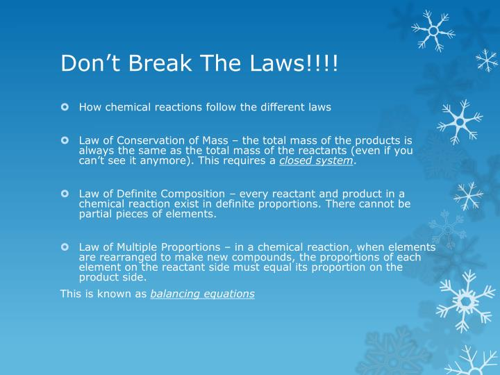 Don't Break The Laws!!!!