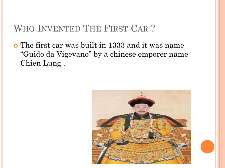 Who Invented The First Car ?