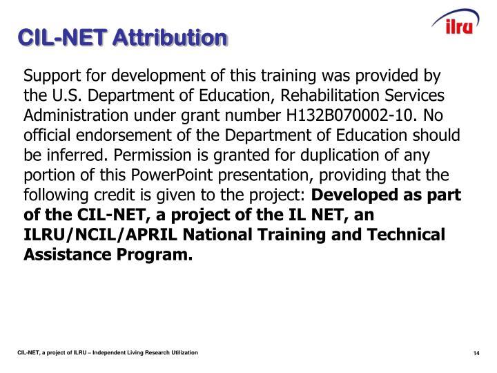CIL-NET Attribution