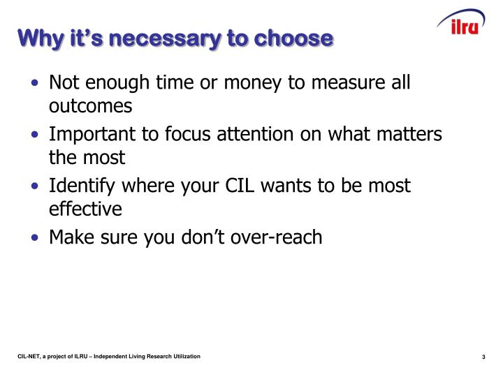 Why it's necessary to choose