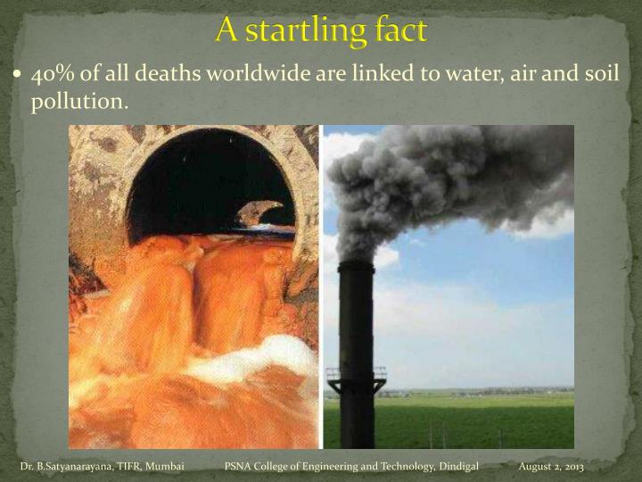 A startling fact