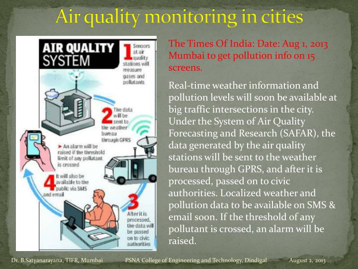 Air quality monitoring in cities