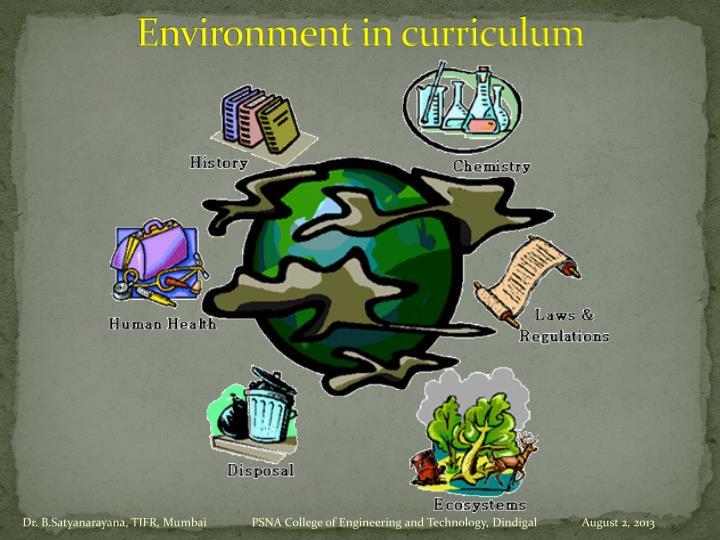 Environment in curriculum