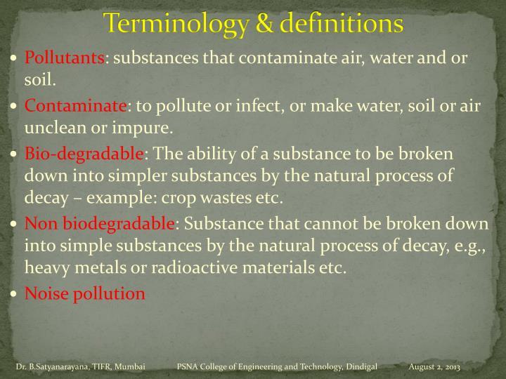 Terminology &