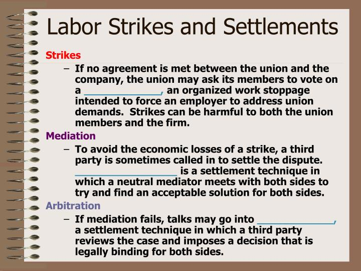 Labor Strikes and Settlements