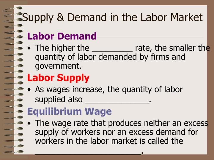 Supply & Demand in the Labor Market