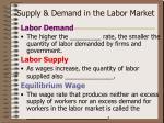 supply demand in the labor market