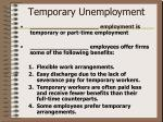 temporary unemployment