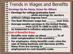 trends in wages and benefits