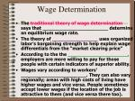 wage determination