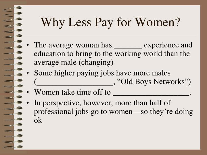 Why Less Pay for Women?