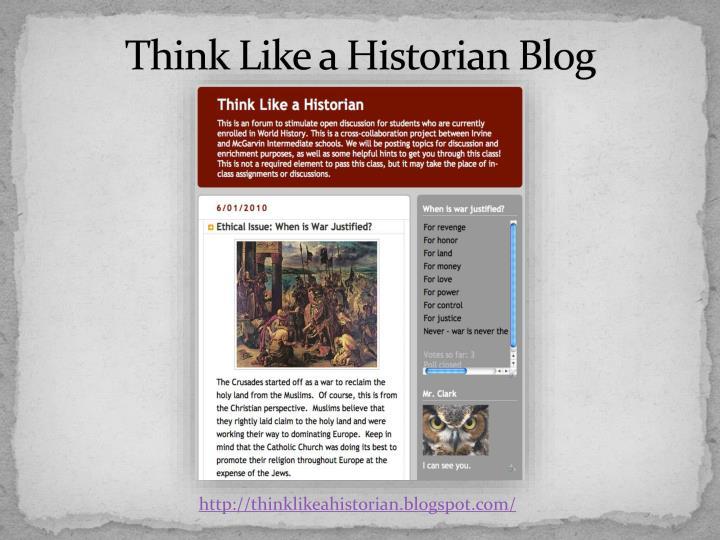 Think Like a Historian Blog