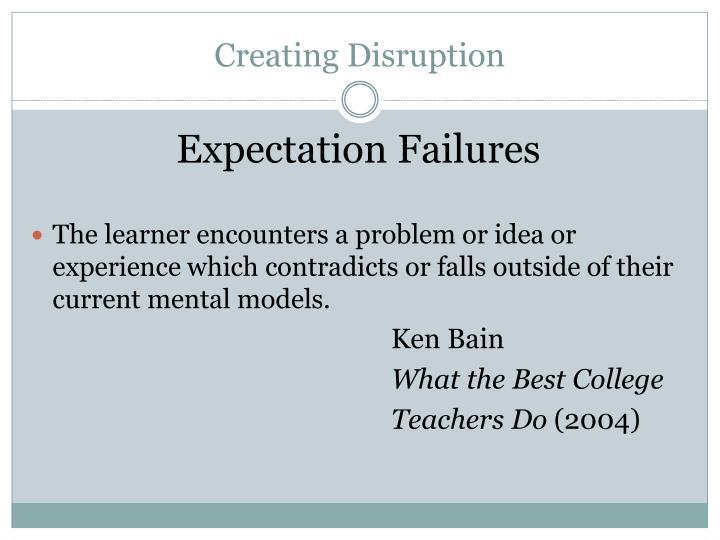 Creating Disruption