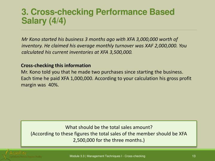 3. Cross-checking Performance Based Salary (4/4)