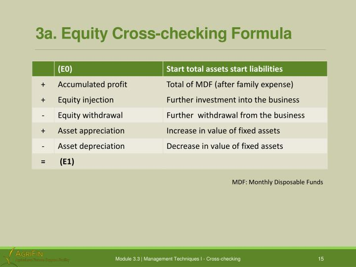 3a. Equity Cross-checking