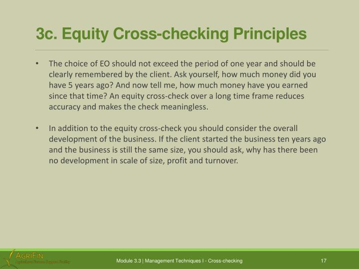 3c. Equity Cross-checking Principles