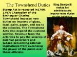 the townshend duties