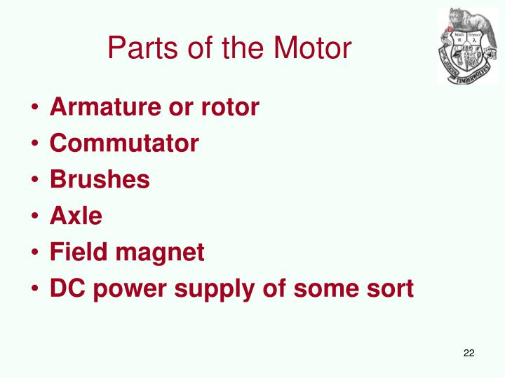 Parts of the Motor