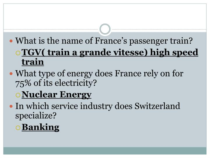 What is the name of France's passenger train?