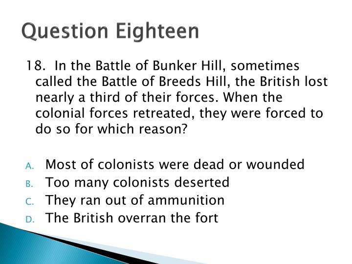 Question Eighteen