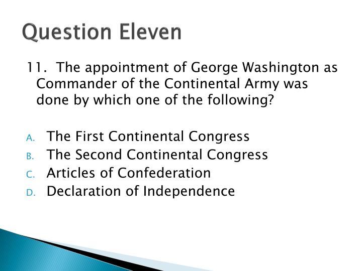 Question Eleven