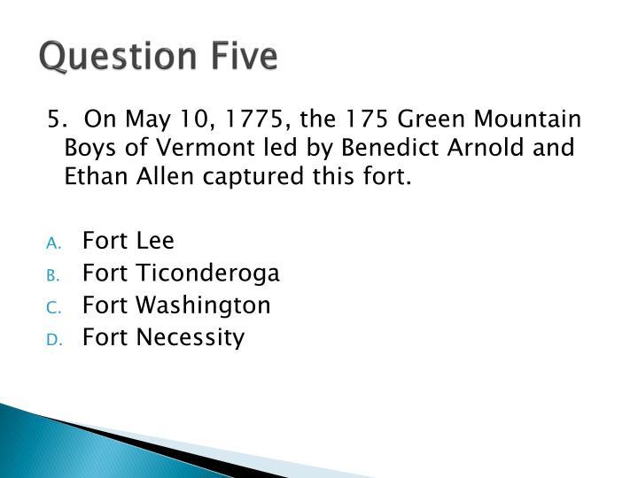 Question Five