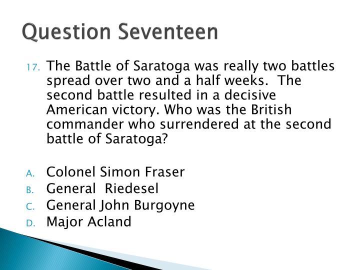 Question Seventeen