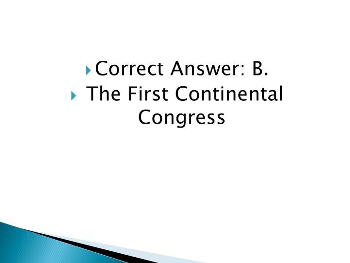 Correct Answer: B.
