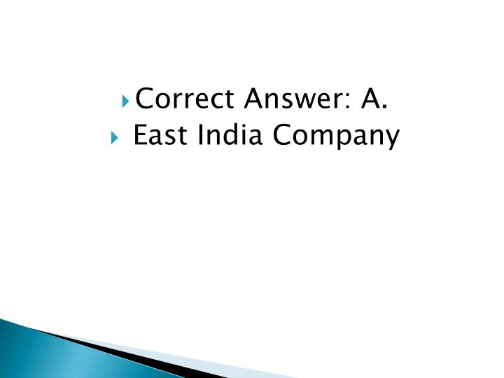 Correct Answer: A.