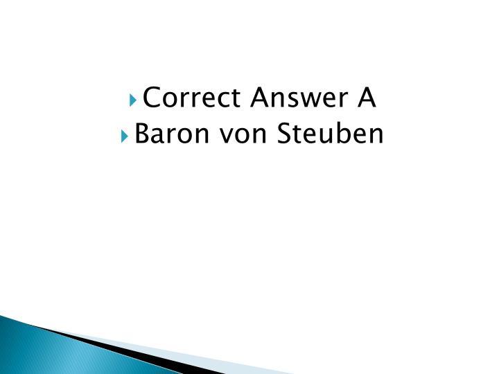 Correct Answer A