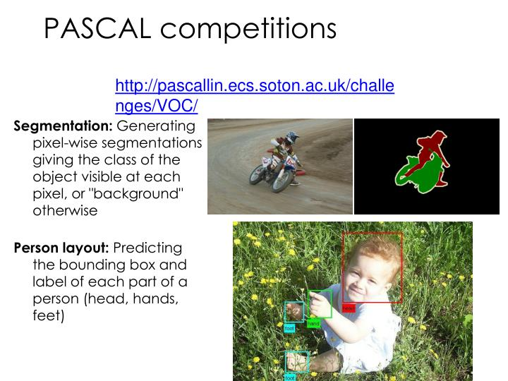 PASCAL competitions
