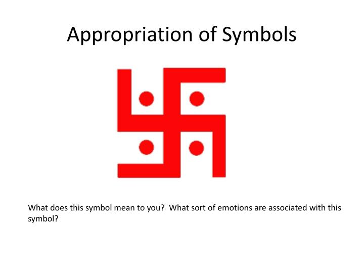 Appropriation of Symbols