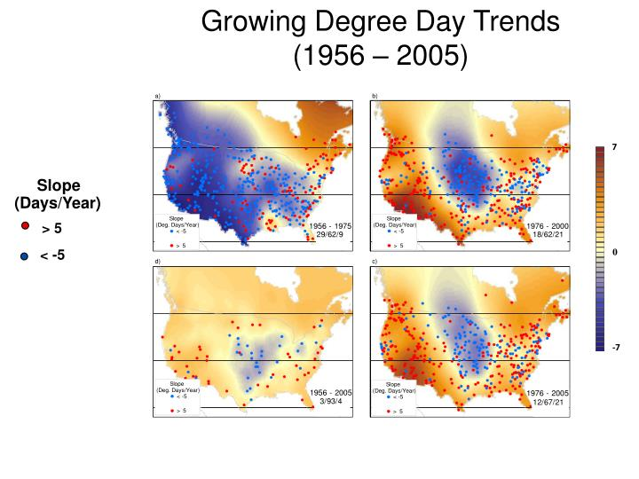 Growing Degree Day Trends