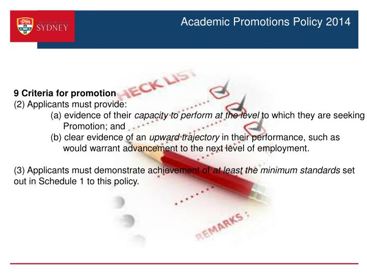 Academic Promotions Policy 2014