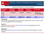 schedule 1 minimum standards required for academic promotion1